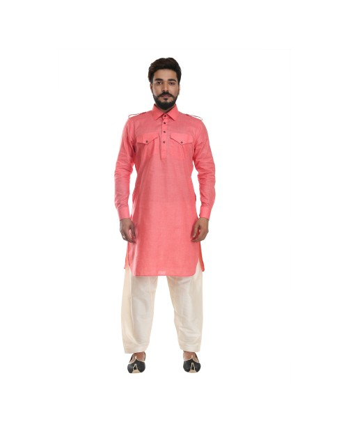 Peach Pathani Suit for Men