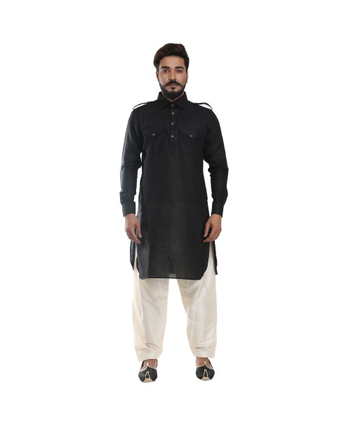 Black Pathani Suit for Men