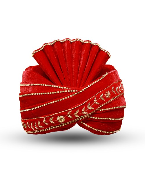 Red Color velvet  Safa/Turban