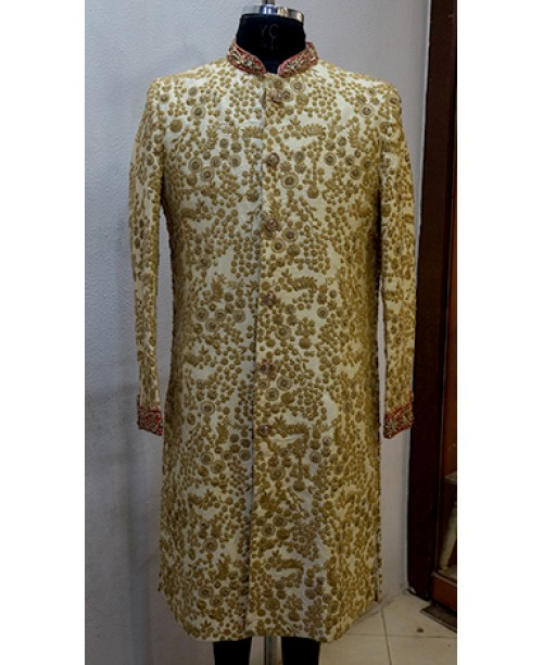 Embroidery worked Sherwani