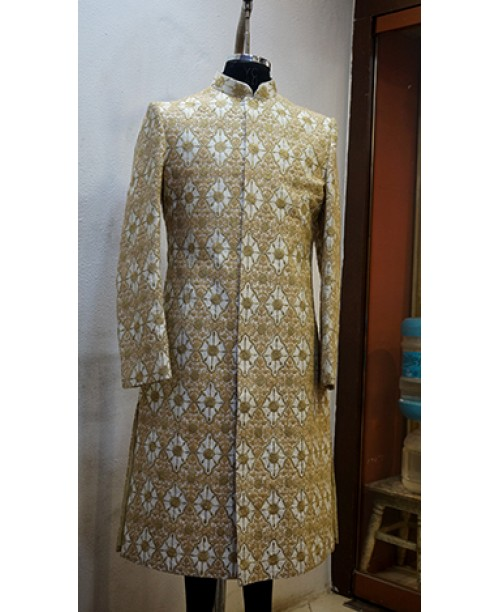 Golden White Sherwani