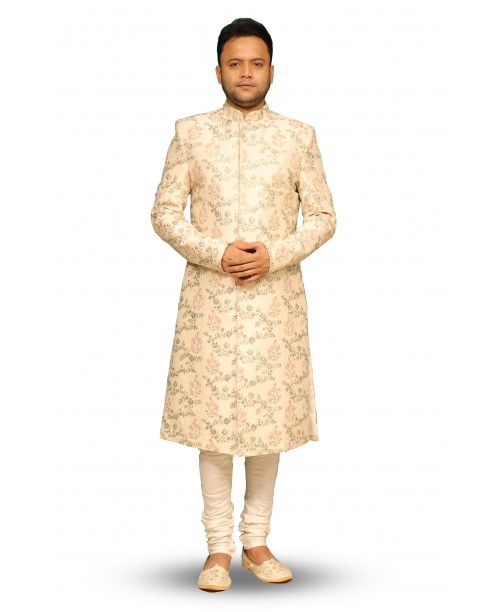 Light Pink Color sherwani
