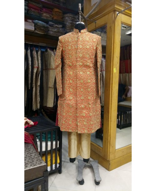 Orange Color Sherwani