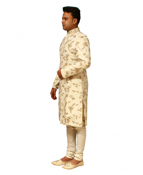 Ivory  Color Sherwani